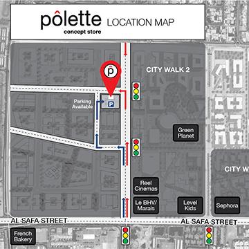 Pôlette location map