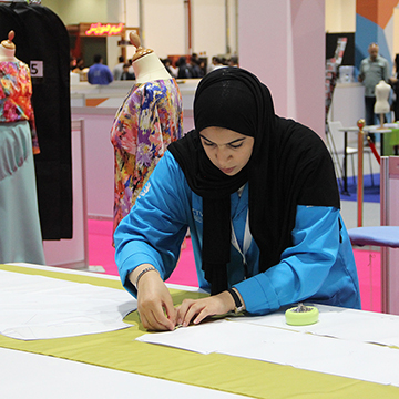 Hessa Al Shawab an already professional pattern maker