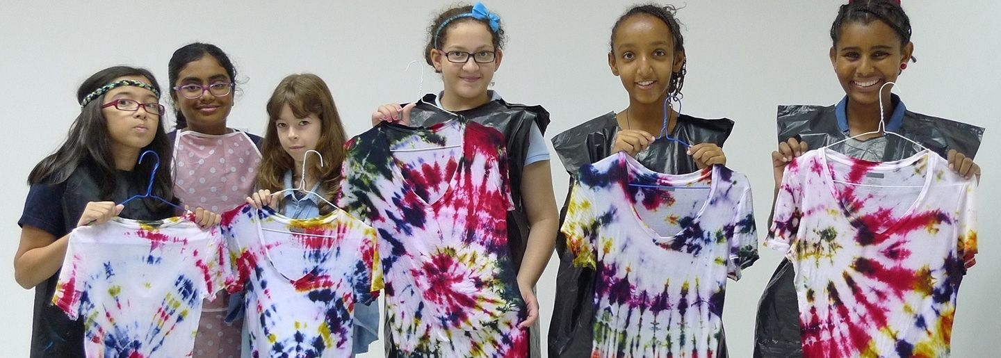 Kids Fashion Summer Workshop - tie dye creations