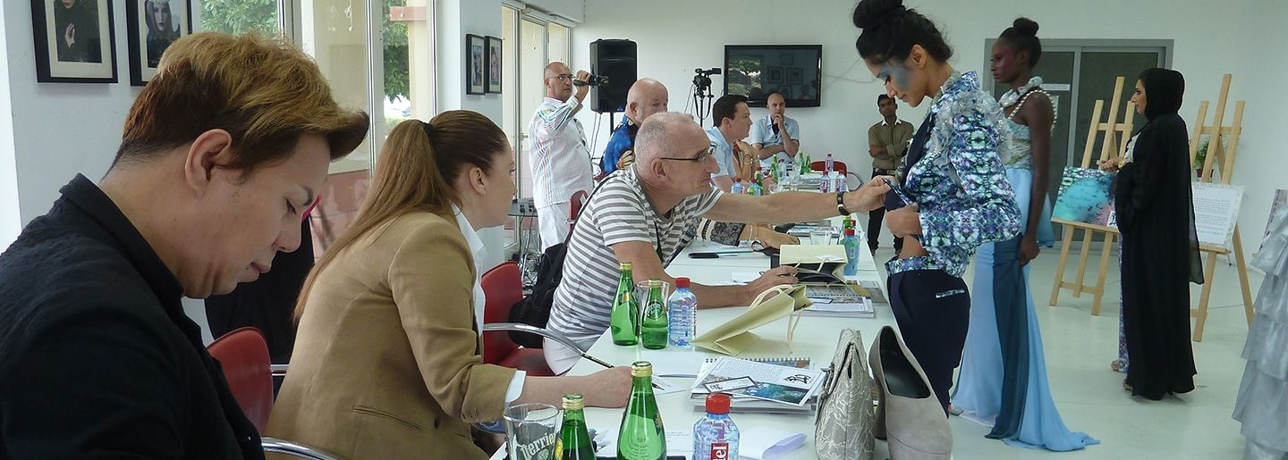 3rd year Jury session with Jury members, Mr. Ezra Designer, Mr Laffray Pattern making coordinator Esmod International